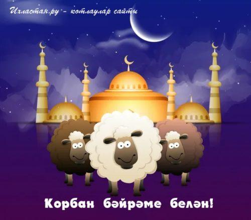 Открытки с праздником Курбан байрам бесплатно
